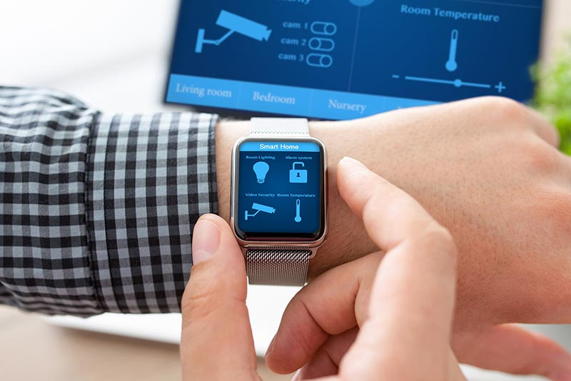 Home automation connected to smart watch
