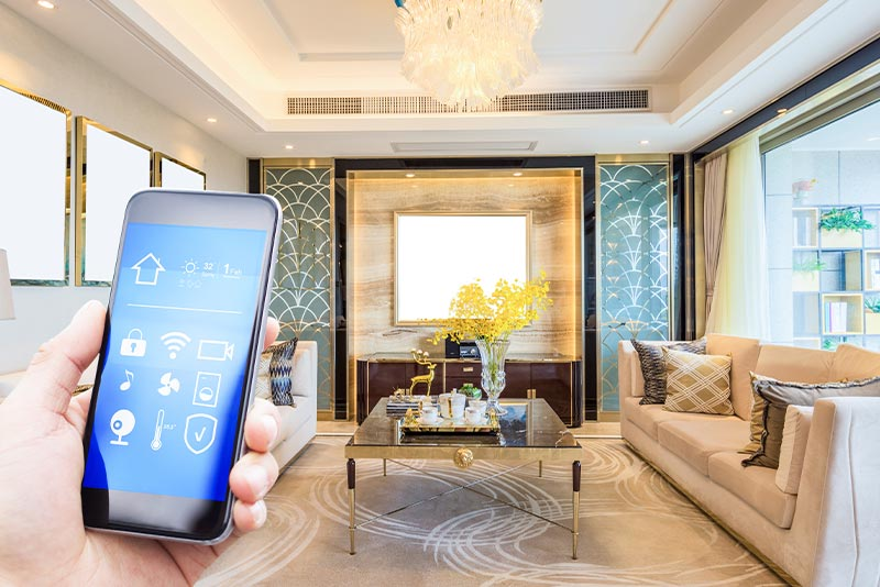 using phone inside an automated home